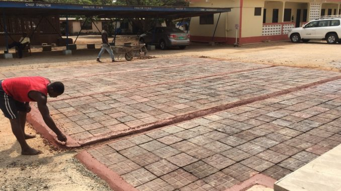 ghanaian introduces pavement blocks made from plastic